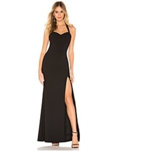 ❤️ NWT Likely Stunning Black Claire Halter Gown!